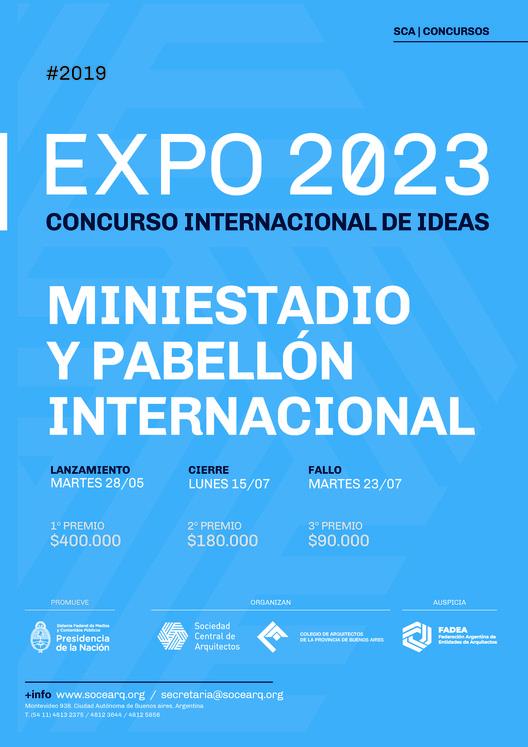 """Concurso de Ideas Expo 2023: """"Miniestadio y Pabellón Internacional"""", vía Sociedad Central de Arquitectos"""
