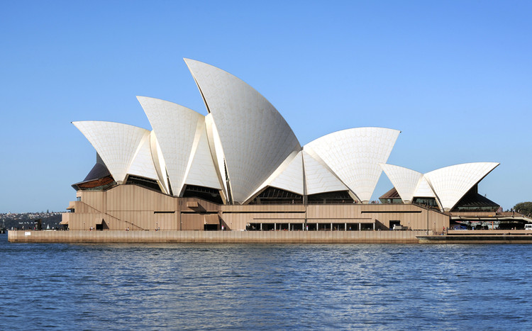 Courtesy Sydney Opera House Trust, Photo by Jack Atley. ImageA 2014 Keeping It Modern grant helped support the Sydney Opera House Trust in formulating a plan to conserve concrete-and-tile elements of the iconic building's (1973) sail-like roof.
