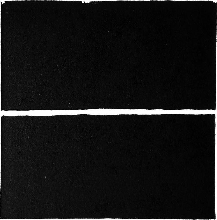 """El trazo del horizonte: un libro sobre cómo esta línea ha inspirado la arquitectura, Estampa de un grabado en linóleo que recrea el momento de """"la castración de Urano"""", momento cósmico cuando míticamente se divide el cielo y la tierra. Image © Alfonso Arango González"""