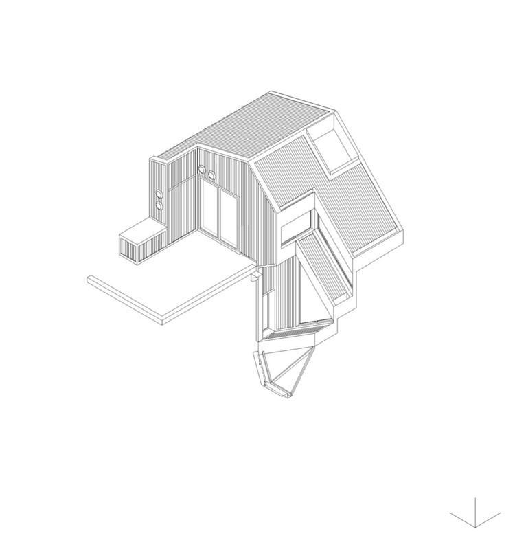 Axonométrica PH Lavalleja / CCPM Arquitectos