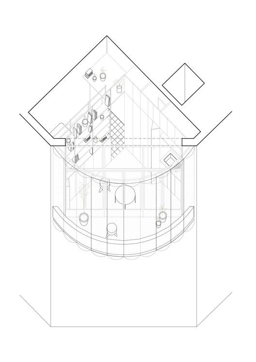 Axonométrica El Camarin / IR arquitectura