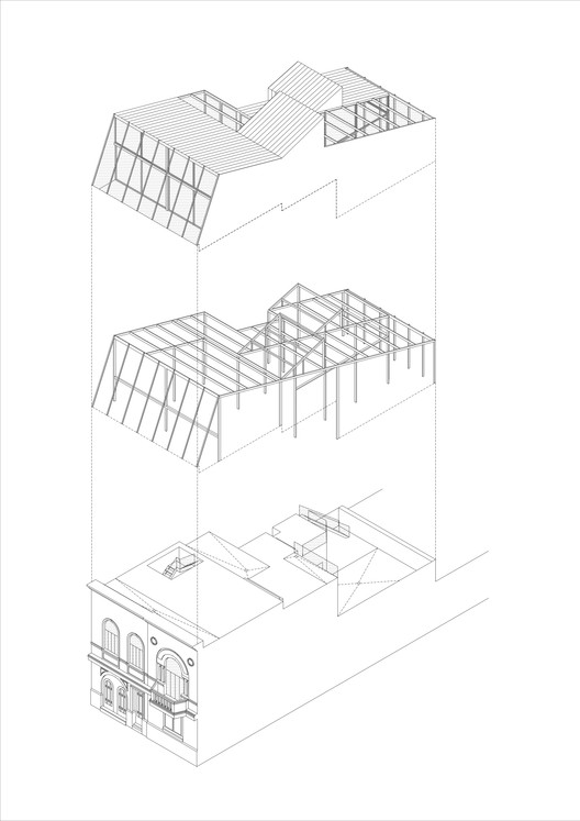 Axonométrica Casa Blas / Adamo Faiden