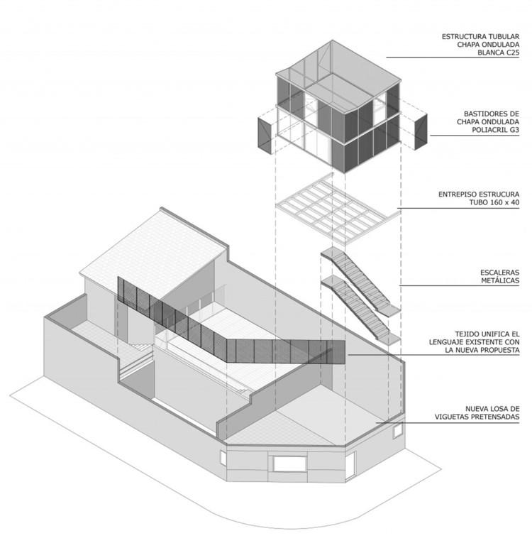Axonométrica Atelier Vilela