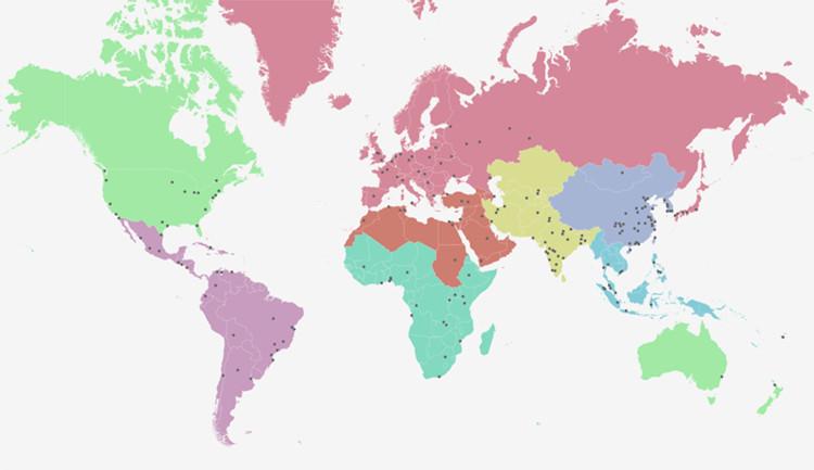 """""""Atlas de expansión urbana"""" mapea el crecimiento de cientos de ciudades en todo el mundo, Imagem: Atlas da Expansão Urbana"""