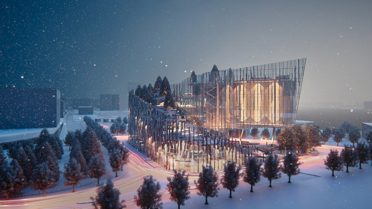Nuan Studio projetará o Centro Cultural Norueguês em Oslo, CCNW. Imagem Cortesia de Nuan Studio