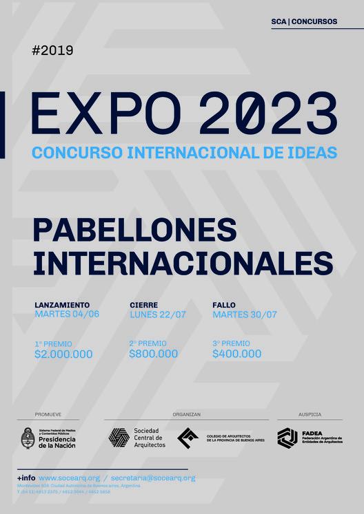 """Concurso de Ideas Expo 2023: """"Pabellones Internacionales + Campus de Empresas Creativas"""", Cortesía de Sociedad Central de Arquitectos"""