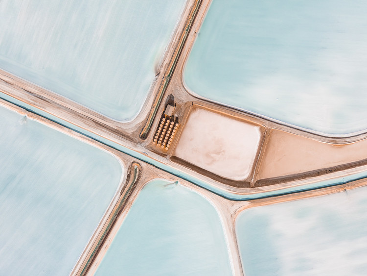 The Beauty of Sea Salt Landscapes From Above, © Tom Hegen