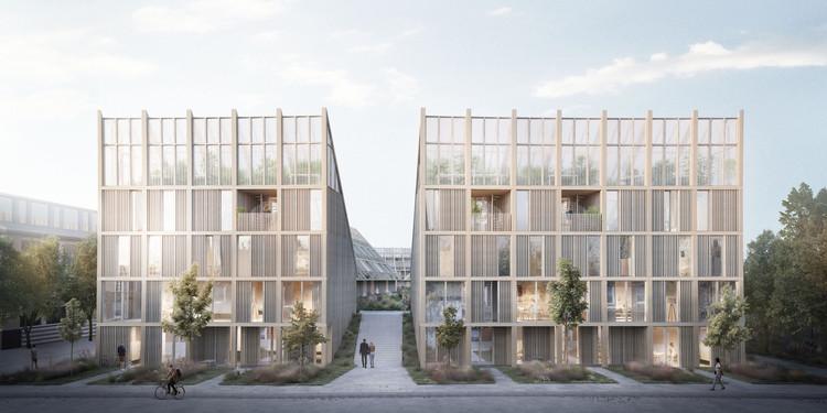 Tredje Natur propõe modelo habitacional para atender às metas climáticas da ONU, New Angle. Imagem Cortesia de TREDJE NATUR