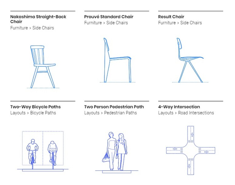 Dimensions.Guide Creates Online Database of Scaled Figures and Drawings, Courtesy of Dimensions.Guide