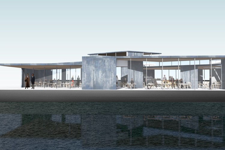 zU-Studio Creates Floating Harbor Pavilion for Amsterdam, Courtesy of zU-Studio