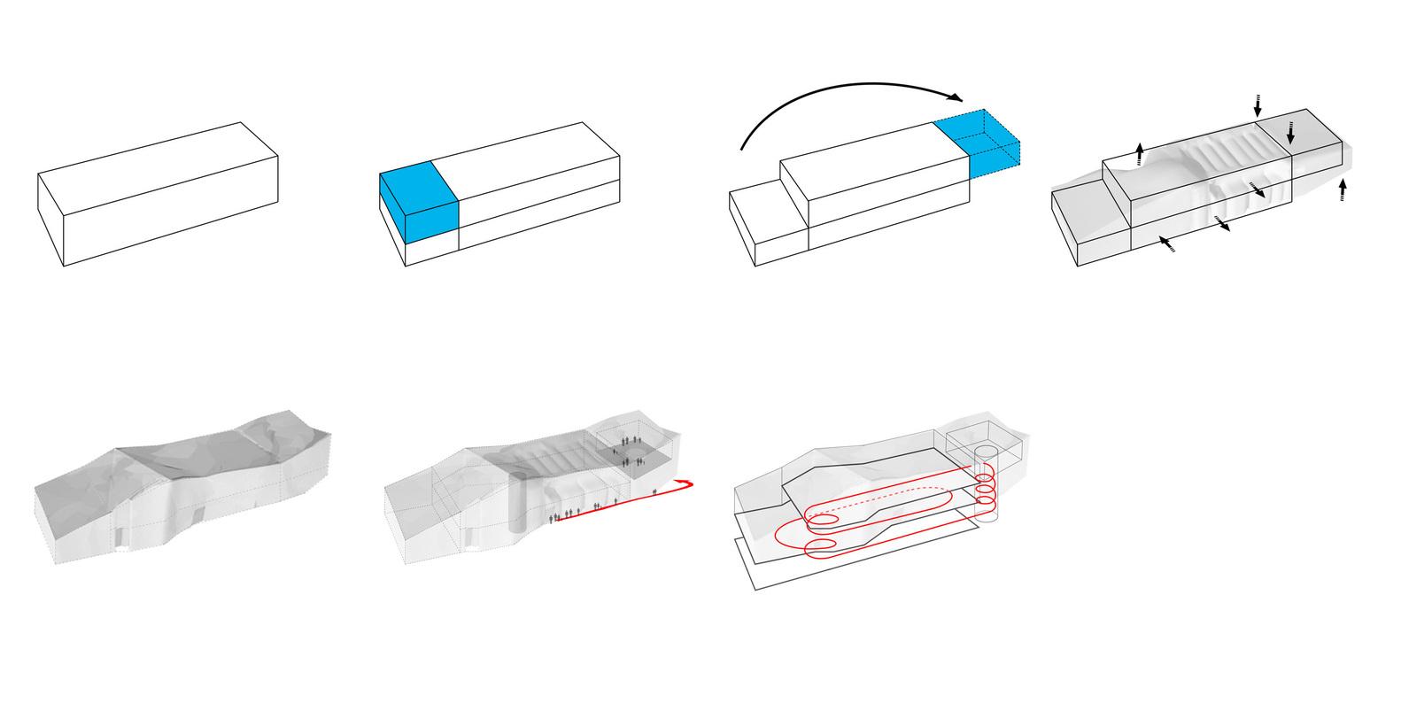 muttenz water purification plant / oppenheim architecture + design  diagram