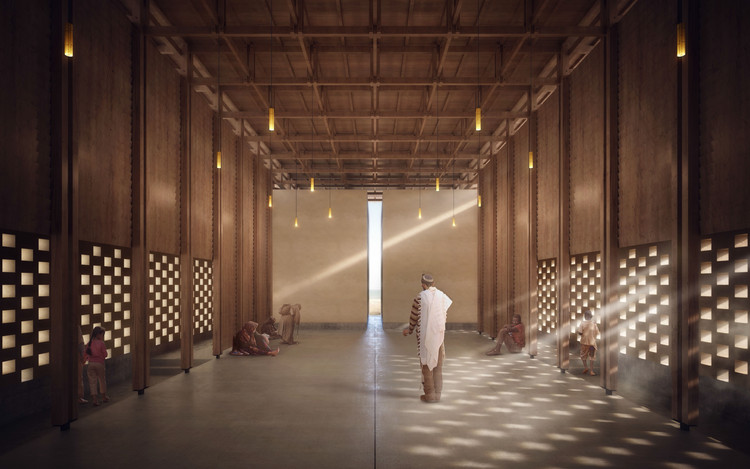 Winning Designs for Senegal Peace Pavilion, Judged by Kengo Kuma, First Place. Image © Changze Cai