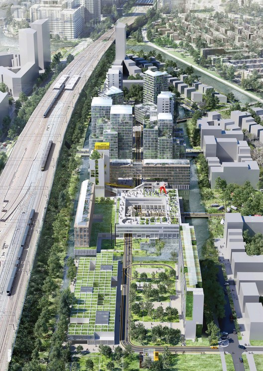 """The """"Bajes Kwartier"""", aerial view of the masterplan. Image by Robota."""