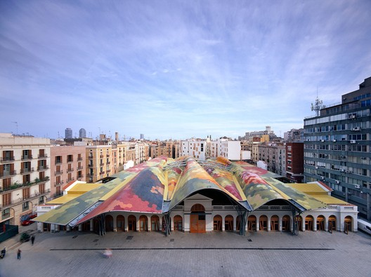 Santa Caterina Market by Enric Miralles and Benedetta Tagliabue. Image Courtesy of Miralles Tagliabue EMBT