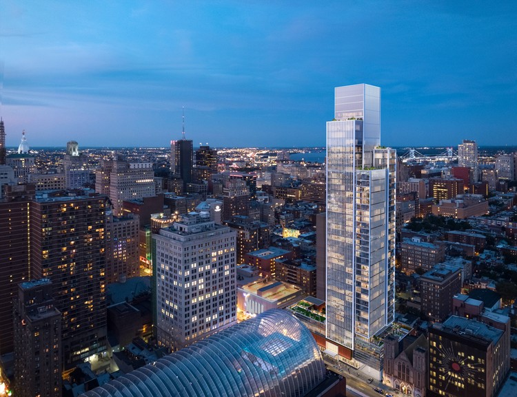 KPF Breaks Ground on First Philadelphia Residential Tower, © KPF