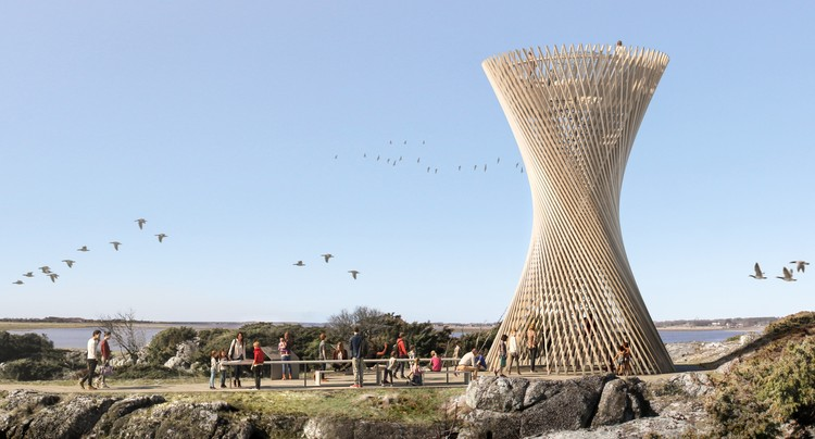 White Arkitekter Create Lattice Observation Tower in Sweden, © White Arkitekter