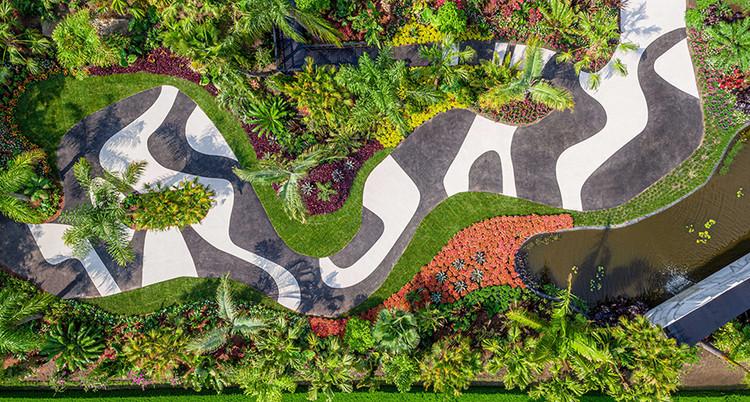 """Roberto Burle Marx é tema de grande exposição no Jardim Botânico de Nova Iorque, Seção """"Modernist Garden"""" da exposição. Cortesia de NYBG"""