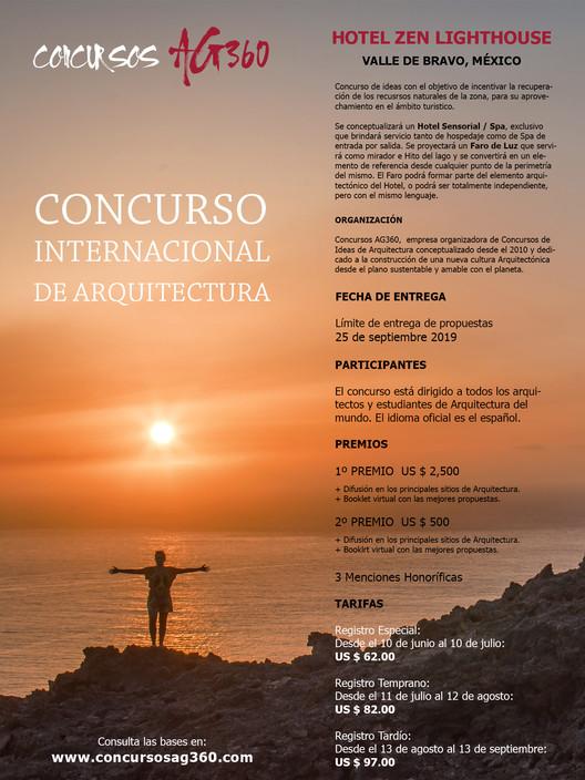 Convocatoria para Concurso Internacional de Ideas: Hotel Zen Lighthouse, México, Concursos AG360