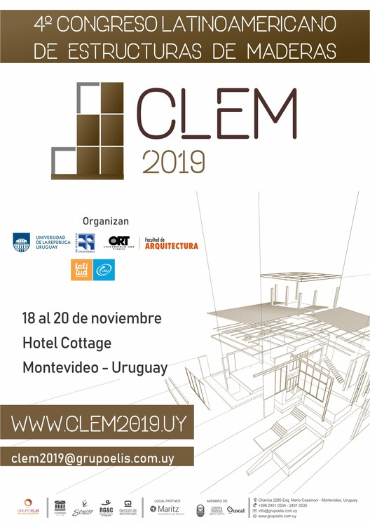 CLEM2019: IV Latin American Conference on Timber Structures