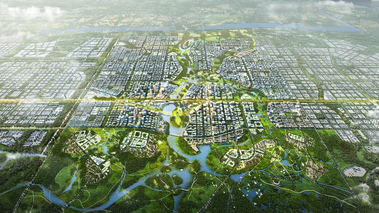 SOM and TLS Design China's Model City of the Future, © SOM