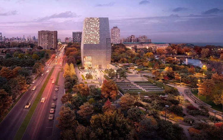 Obama Presidential Center Design Moves Forward as Federal Judge Rejects Lawsuit, Obama Presidential Center. Image Courtesy of DBOX