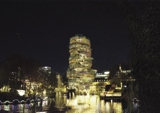 BIG Designs 18-Story Pagoda for Tivoli in Copenhagen