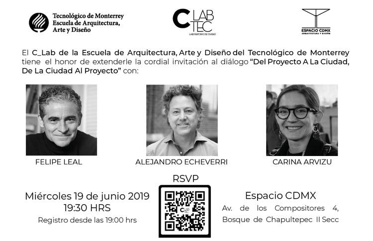 Del proyecto a la ciudad, de la ciudad al proyecto, Escuela de Arquitectura, Arte y Diseño