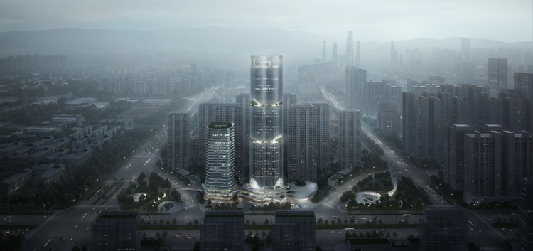 EID Design Fluid Sculptural Tower for Kunming, China, © EID Architecture