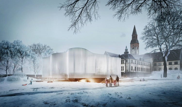 Hey5 Design Floating Addition to Finland's National Museum, Courtesy of hey5