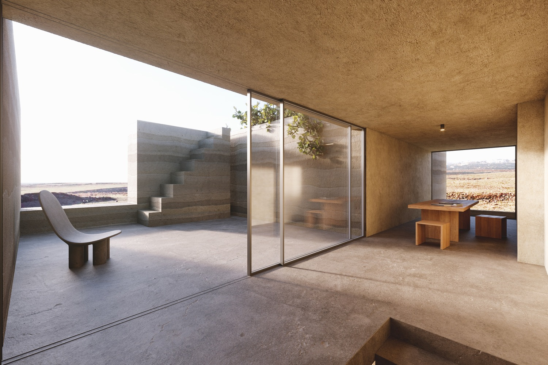 Kapsimalis Architects Carve Land from Santorini Vineyard to Create Floating House,© Antonis Tzortzis (studiotaf.gr)