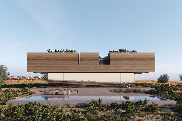Kapsimalis Architects Carve Land from Santorini Vineyard to Create Floating House, © Antonis Tzortzis (studiotaf.gr)