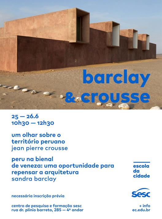 Escola da Cidade e Sesc promovem encontros com os arquitetos peruanos Sandra Barclay e Jean Pierre Crousse