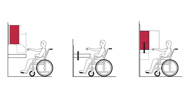 Cómo diseñar una cocina accesible: muebles ajustables y multifuncionales, Cortesía de Häfele