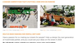 Open Call: design the next generation of multimodal parklet