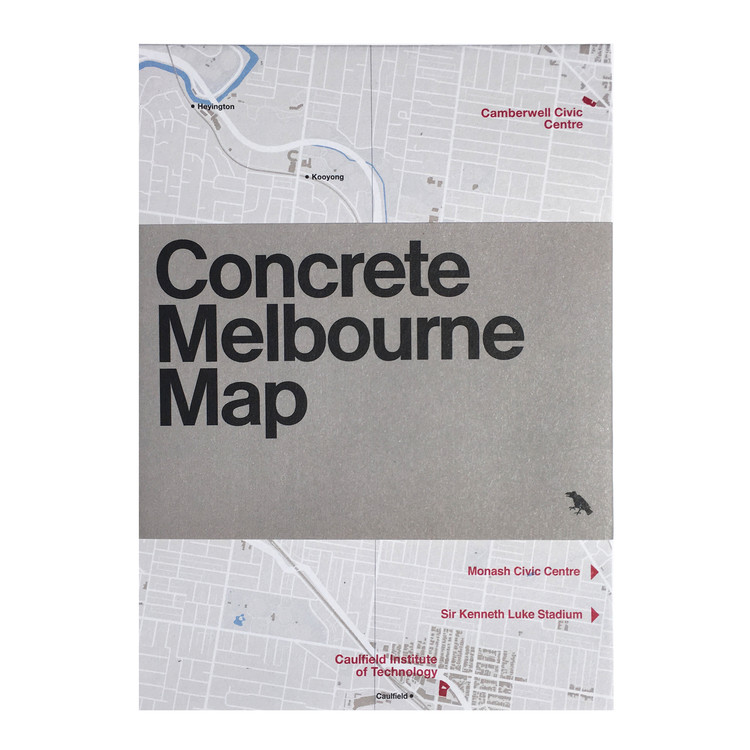 Concrete Melbourne Map: Guide map to Melbourne's concrete and Brutalist architecture