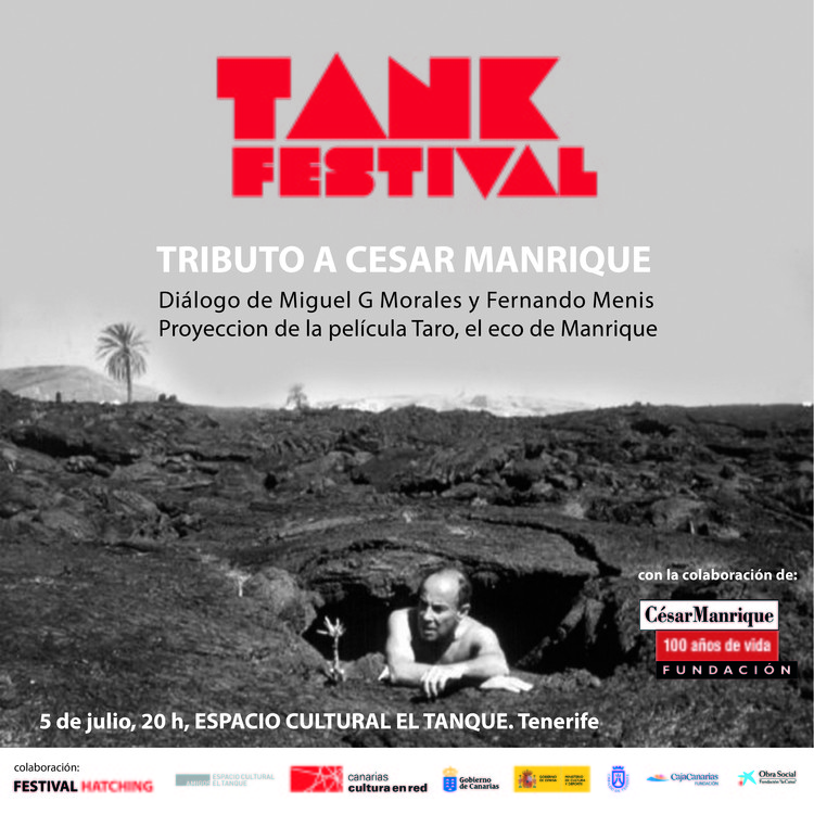 Tributo a César Manrique en el 5º Tank Festival de Canarias, Cartel del Tributo a César Manrique en el 5º Tank Festival de Canarias