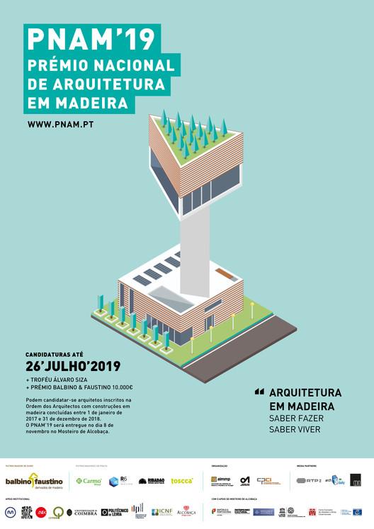 Inscrições abertas para o PNAM'19 - Prêmio Nacional de Arquitetura em Madeira, PNAM'19