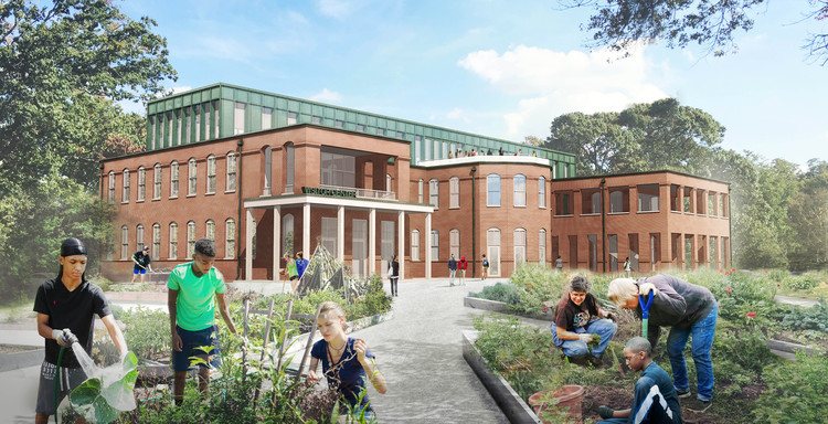 "Historic Mental Hospital Will Transform Into North Carolina's ""Central Park"", Dorothea Dix Park. Image Courtesy of Michael Van Valkenburgh Associates"