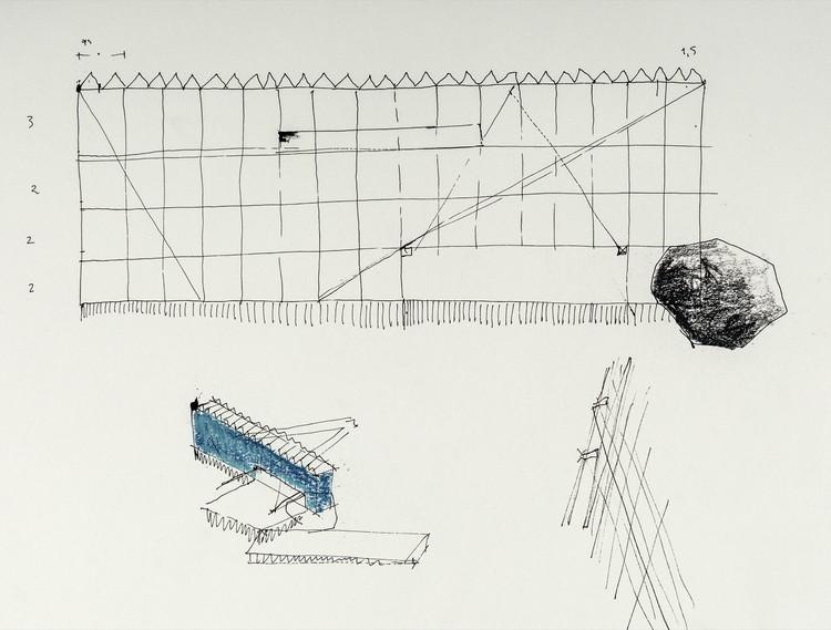 Selección de los mejores dibujos arquitectónicos: Juan Agustín Soza, Primer dibujo casa azul, ocho quebradas , 2018. Image Cortesía de Juan Agustín Soza