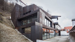 """Concrete meets Corten"" Residential and Office Building / Architekturbüro Leinhäupl + Neuber"