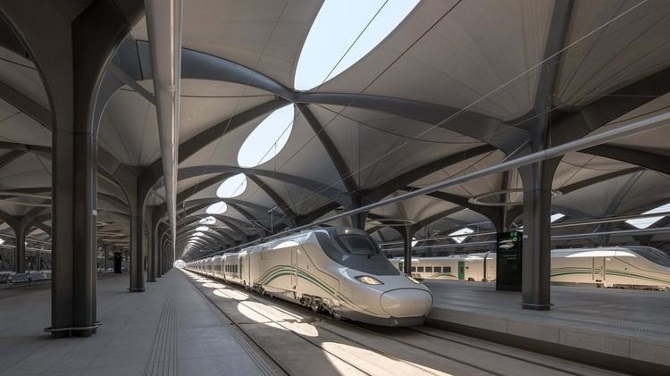 Estación de Trenes: ejemplos en planta y sección, © Nigel Young
