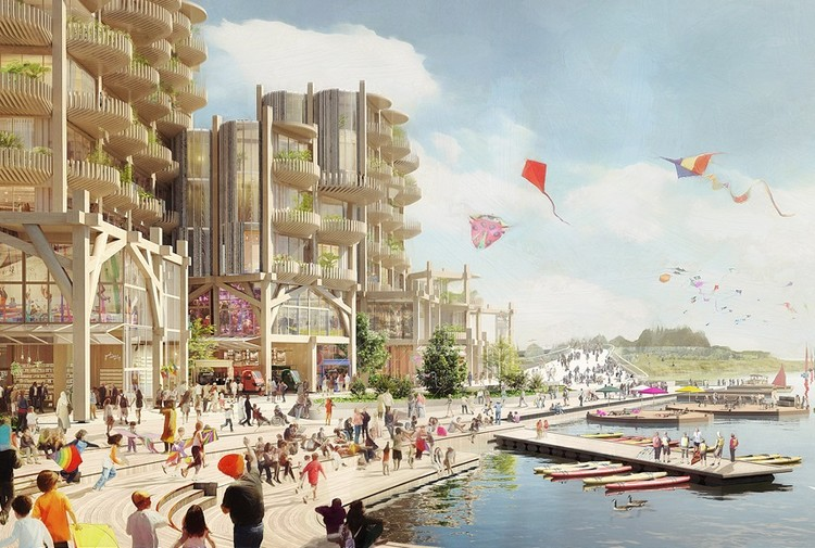 Sidewalk Labs Unveils Full Quayside Master Plan for Toronto, © Picture Plane