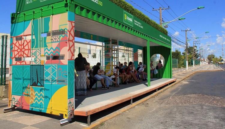 Cuiabá terá 82 pontos de ônibus em contêineres com energia solar e jardim suspenso, Foto: Gustavo Duarte / Prefeitura de Cuiabá