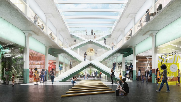 OMA Reveals New Design to Convert Historic Houston Post Office, POST Houston. Image Courtesy of LUXIGON