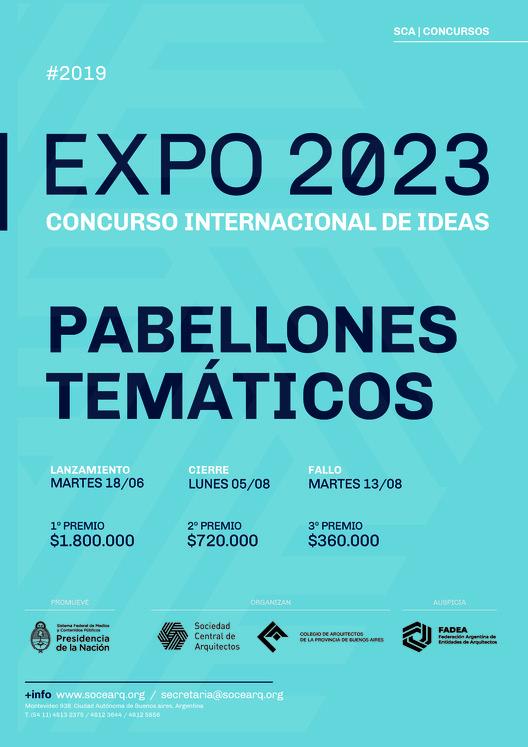 """Concurso Internacional de Ideas Expo 2023: """"Pabellones Temáticos, espacio para la creatividad y el conocimiento"""", Cortesía de Sociedad Central de Arquitectos"""