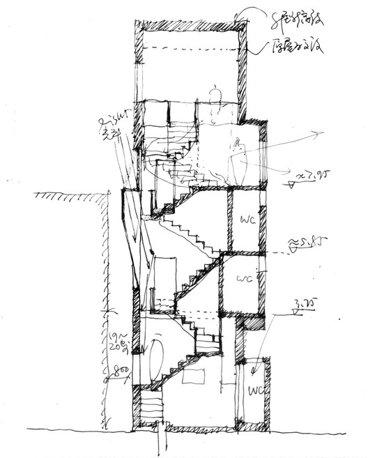 staircase section sketch