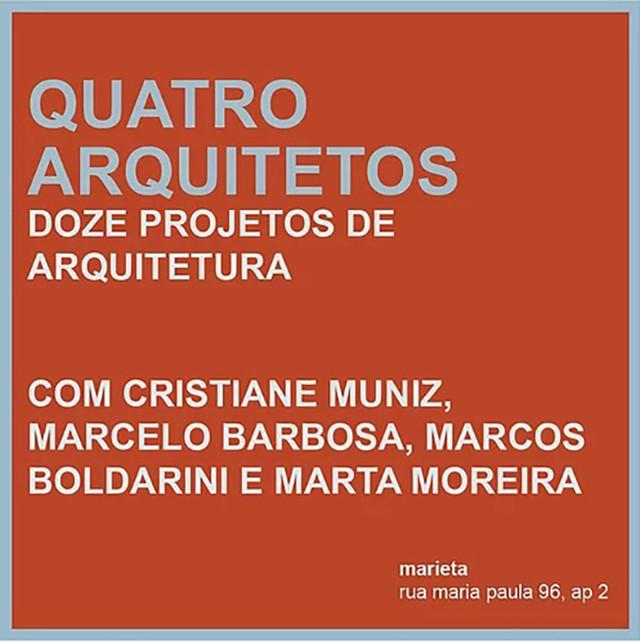 Marcelo Barbosa apresenta projetos do Bacco Arquitetos em curso no Marieta, 29 junho / Marcelo Barbosa – Sobre três projetos de arquitetura