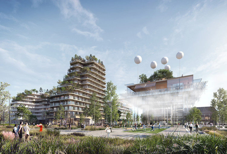 Hamonic+Masson Reimagine Suburban Paris with New Neighborhood Plan, High Garden. Image © YAM Studio