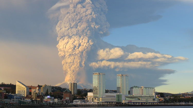 "Why Should We Invest in Mitigation Instead of Reconstruction? Chile's Resiliency is a Good Example, © Carolina Barría Kemp, under license <a href=""https://creativecommons.org/licenses/by-sa/2.0"">CC BY-SA 2.0</a>. ImageThe eruption of the Calbuco volcano (2015) seen from Puerto Montt"