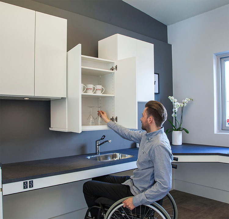How To Design An Accessible Kitchen Adjustable And Multifunctional Furniture Archdaily